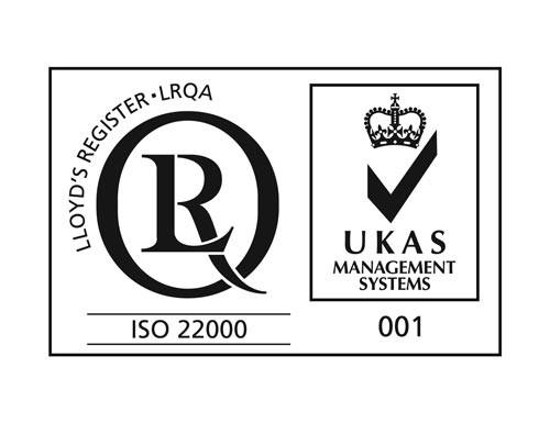 ISO 22000 with UKAS web